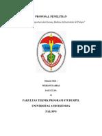 PROPOSAL Penelitian Kemacetan Transportasi Dan Kurang Baiknya Infrastruktur Di Palopo