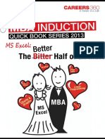 MS Excel-The Better Half of an MBA