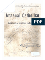 Arsenal católico ou respostas às objeções protestantes - José de Mello