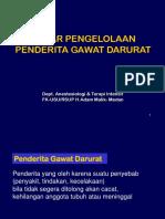 1- Dasar Pengelolaan Penderita Gawat Darurat - FKG an - 1