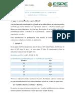 Distribución de Probabilidades en Variables Aleatorias Continuas.