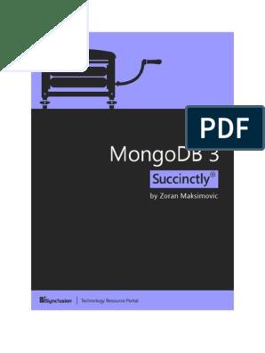 MongoDB 3 Succinctly | No Sql | Mongo Db