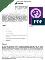 Feminismo de La Igualdad _Wikipedia