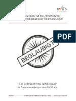 DVUD Empfehlungen Bestätigte-Übersetzungen V1.0