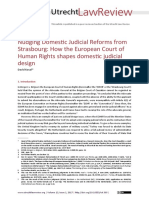 How the European Court of Human Rights Shapes Domestic Judicial Design
