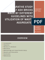 A Comparative Study of Fly Ash Bricks Made
