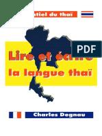 DEGNAU-Lire Et Écrire La Langue Thaï