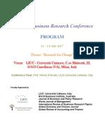 Estratto Programma LIUC Conference