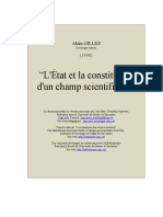 L'État et la constitution d'un champ scientifique.