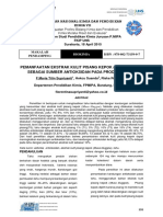 Pemanfaatan Ekstrak Kulit Pisang Kepok Musa Bluggoe Sebagai Sumber Antioksidan Pada Produksi Tahu