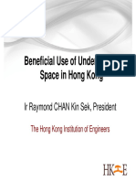 Beneficial Use of Underground Space in HK
