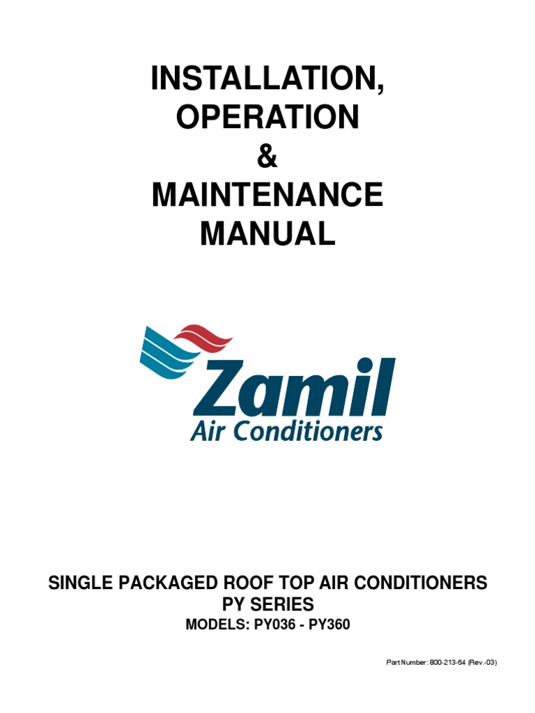 Zamil py series installation operation maintenance manual hvac zamil py series installation operation maintenance manual hvac electrical wiring cheapraybanclubmaster Image collections