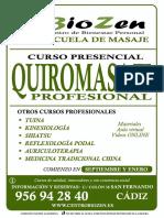 Curso Quiromasaje Cadiz San Fernando