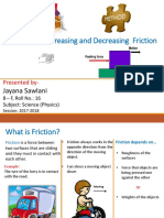 Methods of Increasing and Decreasing Friction - Jayana 8F