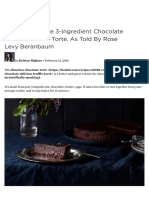 The Magic of the 3Ingredient Chocolate Oblivion Truffle Torte as Told by Rose Levy Beranbaum