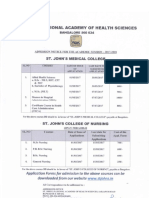 Admission Notice for Allied Health Sciences and Nursing Courses