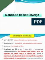 CONTROLE - AULA - 5 - MANDADO DE SEGURAN+çA