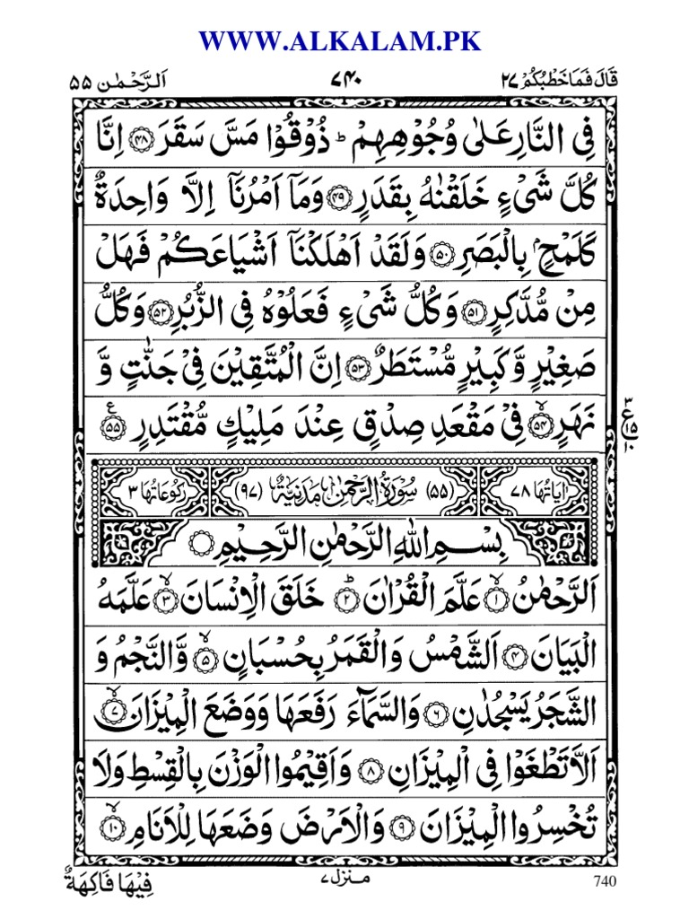 Fadhilat Surah Ar Rahman A K Binfo