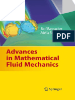 Advances in Mathematical Fluid Mechanics