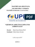 Ejemplos Actividad, Aspecto e Impacto
