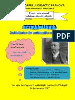 Afis Activitate Proiect Educational Aleea Scriitorilor (1)