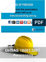 Introduction to OHSAS 18000 (2007)