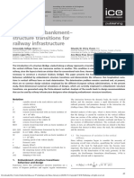 Design of Embankment–Structure Transitions for Railway Infrastructure