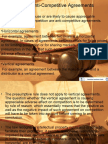 Prohibition of Anti-Competitive Agreements