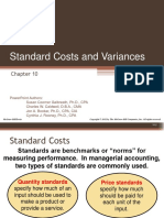 Chapter 10 Standard Costs and Variances