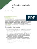 Auditoría Fiscal vs Auditoría Financiera