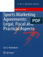 (ASSER International Sports Law Series) Ian S. Blackshaw (Auth.)-Sports Marketing Agreements_ Legal, Fiscal and Practical Aspects-T.M.C. Asser Press (2012)