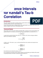 Confidence Intervals for Kendall's Tau-b Correlation