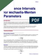 Confidence Intervals for Michaelis-Menten Parameters