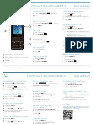 Cisco Wireless IP Phone 8821 Quick Start Guide   Telephone   Trademark