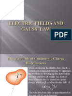 2. Electric Fields and Gauss' Law