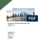Cisco Wireless IP Phone 8821 User Guide User Guide