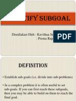 Sub Goals