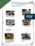 Informe peso especifico de suelo