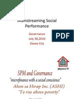 SPM and Governance