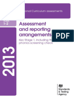2013 KS1 Assessment and Reporting Arrangements