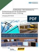 Lehrgang Weiterbildung Straßenbahnbetriebsleiter-In 2017-2018