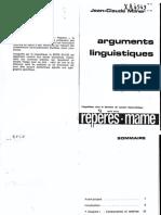 Milner - Arguments Linguistiques - Cap 2