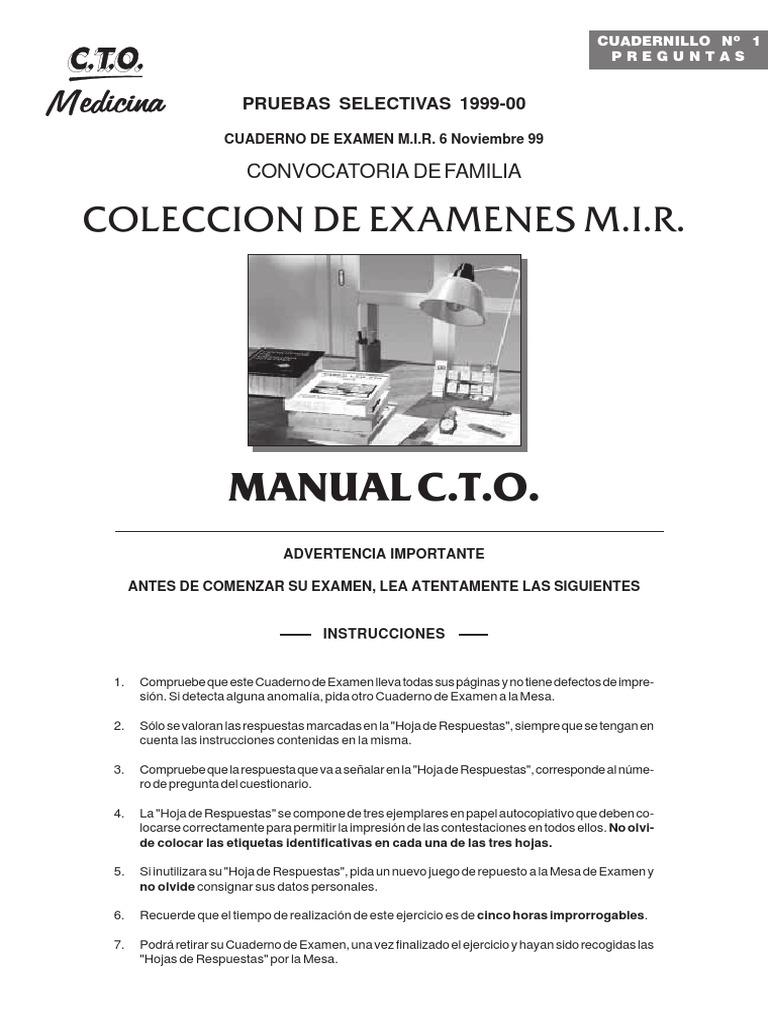 Examen MIR Noviembre 99