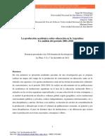 Gorostiaga La investigacion Educativa en Argentina