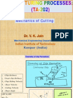 Mechanics of Cutting