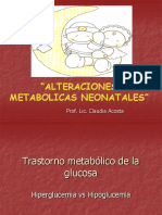 TRASTORNOS METABOLICOS