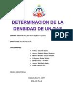 Determinacion de La Densidad de Un Gas