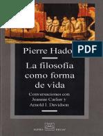 Pierre Hadot La Filosofia Como Forma de Vida OCR