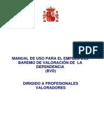 Manual de uso para el Baremo de Valoración de la Dependencia (BVD) dirigido a profesionales valoradores.pdf