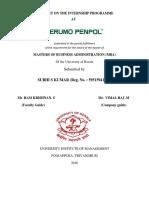 Organisational Study At Terumo Penpol Pvt Ltd.